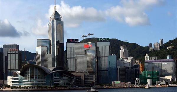 Flag-raising ceremony held to celebrate 20th anniv. of HK