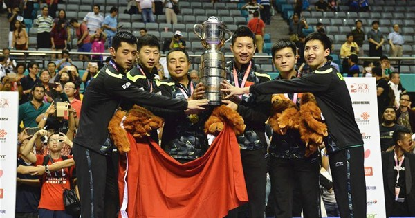 China crush Japan for table tennis title