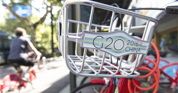 G20 themed logo, slogans and posters seen in Hangzhou