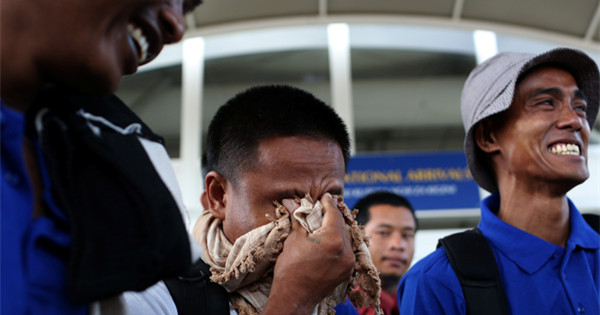 Tears, relief as Somali pirate hostages land in Kenya
