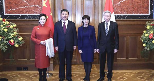 President Xi starts state visit to Switzerland, Davos forum