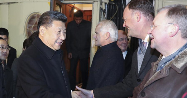 President Xi arrives in Davos to attend World Economic Forum