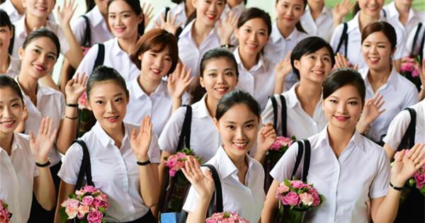 First Xiamen Airlines Taiwan cabin crew put best foot forward