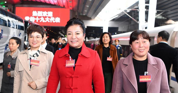 Delegates to CPC national congress arrive in Beijing
