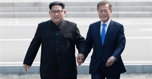 S Korean president arrives in Panmunjom for inter-Korean summit