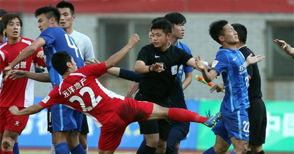 Mass brawl stuns Chinese FA Cup