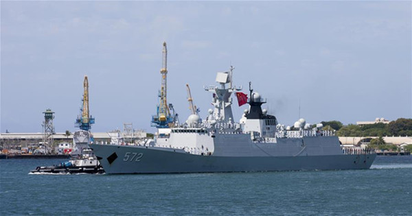 Chinese navy fleet arrives in Hawaii for RIMPAC 2016 drill