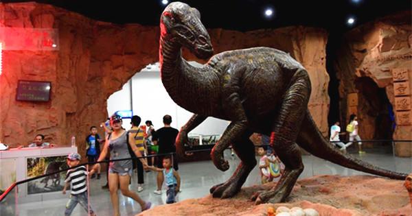 Inside Xixia dinosaur park in Henan