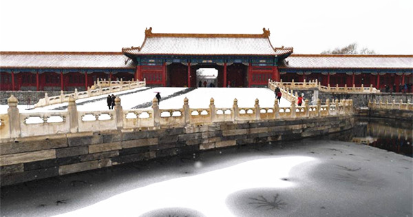 Beijing embraces snowfall