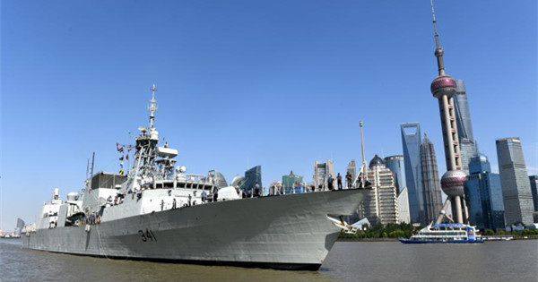 Canadian naval ship HMCS Ottawa arrives in Shanghai for 7-day visit