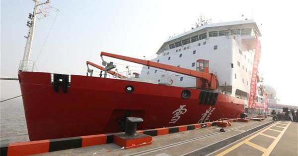 Icebreaker sets sail on China