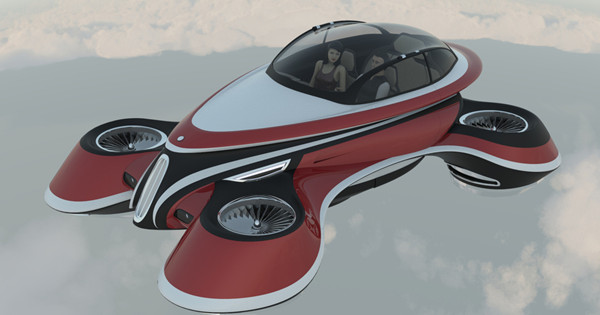 Italian firm shows retro flying car concept