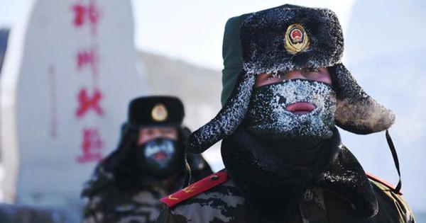 Border police brave brutal cold to patrol