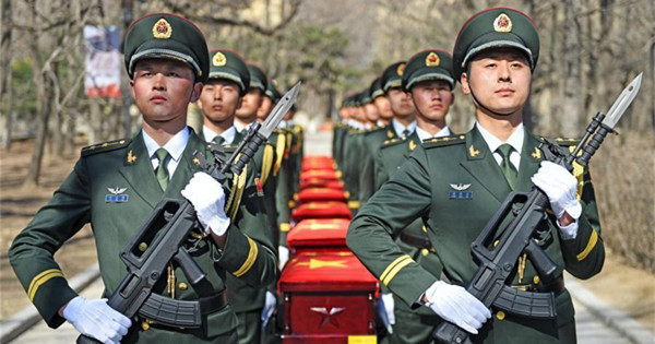 Burial ceremony held for remains of Korean War soldiers in NE China
