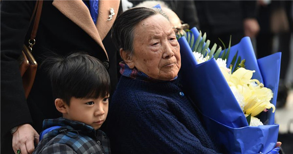 People mourn family members ahead of National Memorial Day for Nanjing Massacre Victims