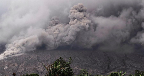Mount Sinabung erupts in Indonesia