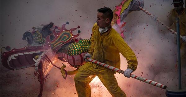 在中国举行各种活动庆祝春节