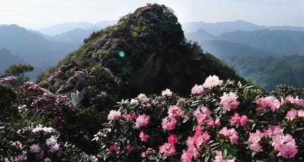 Nanzheng Xianglushan scenic zone in NW China