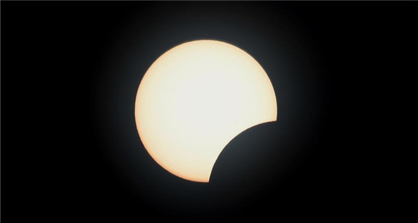 Partial solar eclipse seen across China