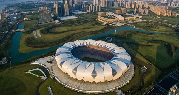 Aerial view of Hangzhou - host city of G20 summit