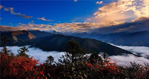 Scenery of Baoxing County in Sichuan