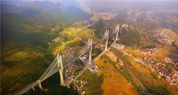 Spectacular bridge makes seven world records