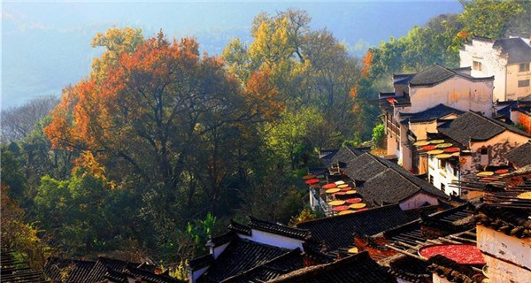 Scenery of ancient village in Wuyuan County