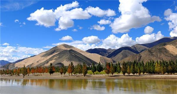 Scenery of Yarlung Zangbo River in Tibet