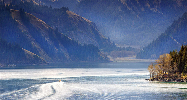 Majestic Tianchi Lake in Tianshan Mountains