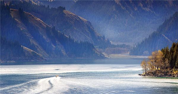 Majestic Tianchi Lake in Tianshan Mountains