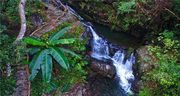 Aerial photos of Daxushan Waterfalls in Guangdong