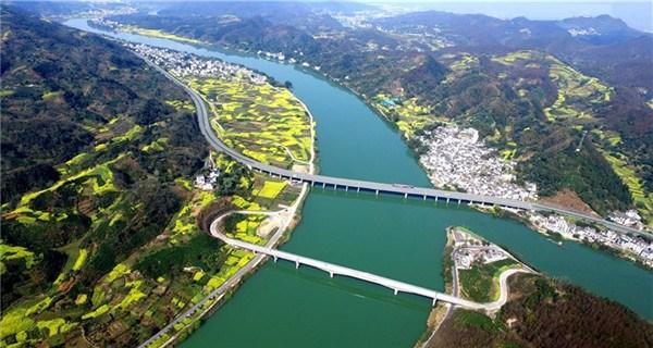 Aerial photos show Anhui segment of Huizhou-Hangzhou Highway