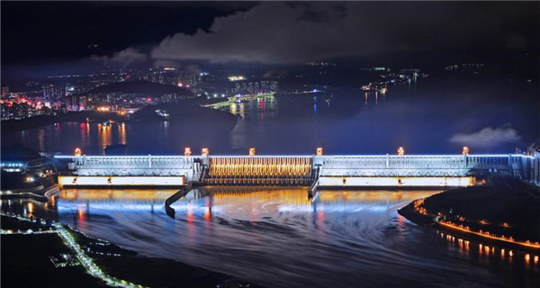 Night charm of Three Gorges Dam