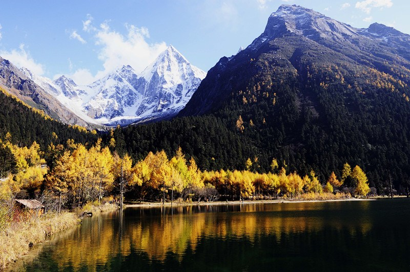 Beautiful autumn landscape in Sichuan