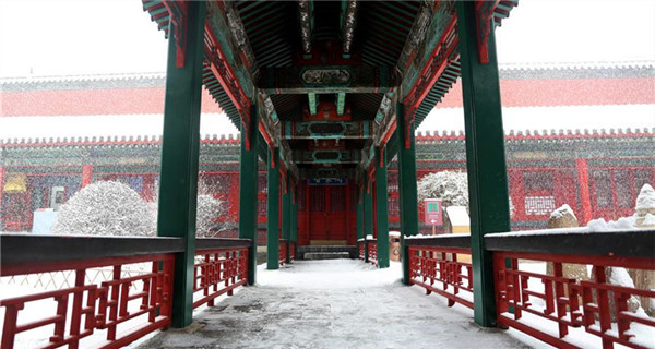 Snow scenery of Shenyang Imperial Palace in NE China