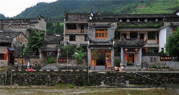 Traditional buildings seen in Yaoli Ancient Town, east China