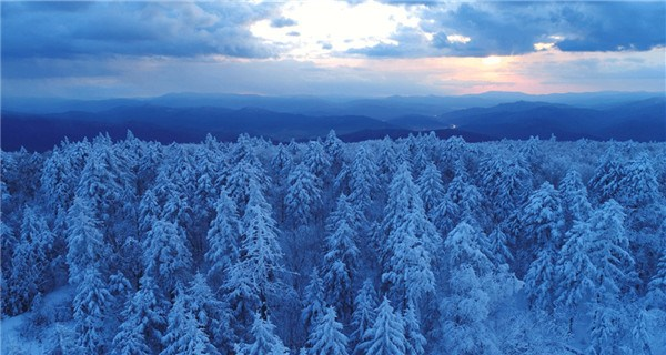 Snow turns Yichun into white fairyland