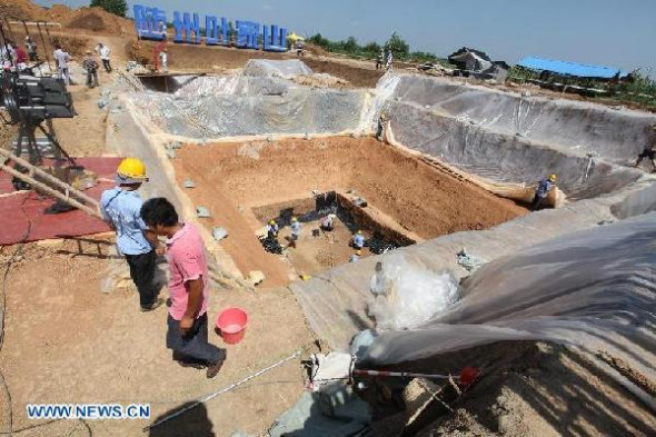 Sacrificial pits excavated from central China tombs - Headlines, features, photo and videos from ecns.cn|china|news|chinanews|ecns|cns