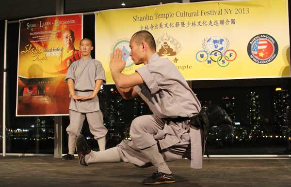 Shi Yongxin, the 30th-generation abbot of the legendary Shaolin Temple, led a cultural delegation to perform kung fu at the United Nations headquarters on Oct 9.