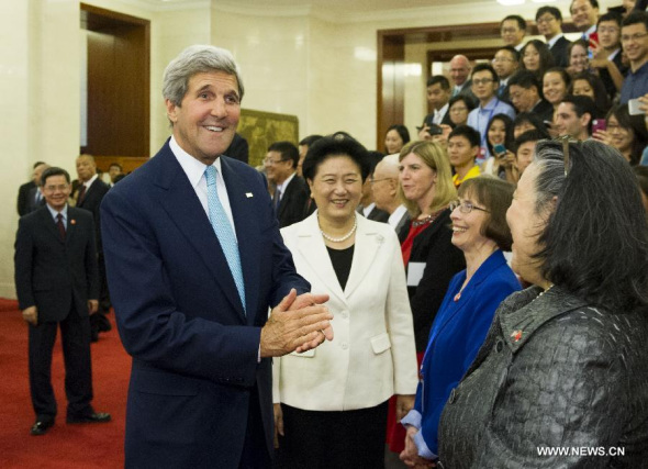 ec23161bd9f97a Chinese Vice Premier Liu Yandong and US Secretary of State John Kerry meet  with Chinese and