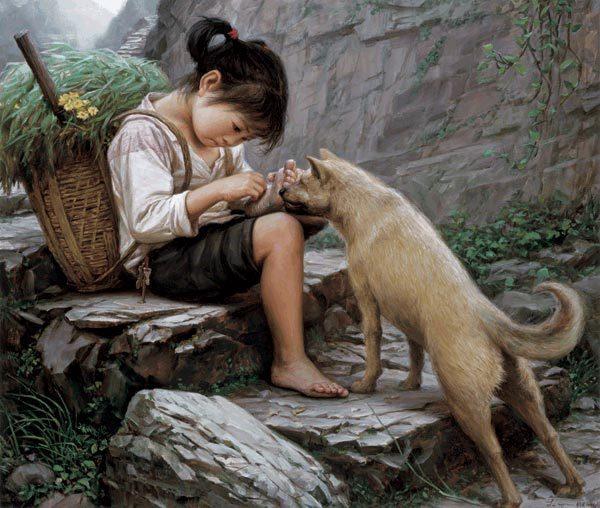 Artworks on China's countryside generate nostalgia. [Photo/CNTV]