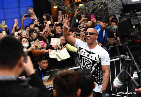 Vin Diesel Fast & Furious 7 Beijing press tour