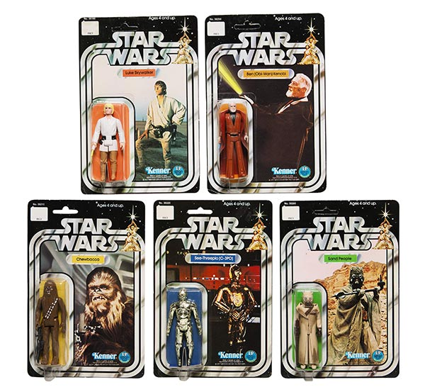 Five Star Wars 12B Back Action Figures, circa 1978. (Photo provided to China Daily)