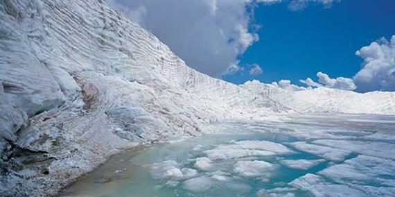 view of dagu glacier (Photo provided to China Daily)