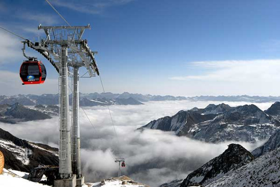 Cable car (Photo provided to China Daily)
