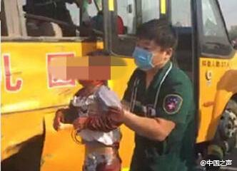 School bus-truck collision leaves 13 injured in central China county