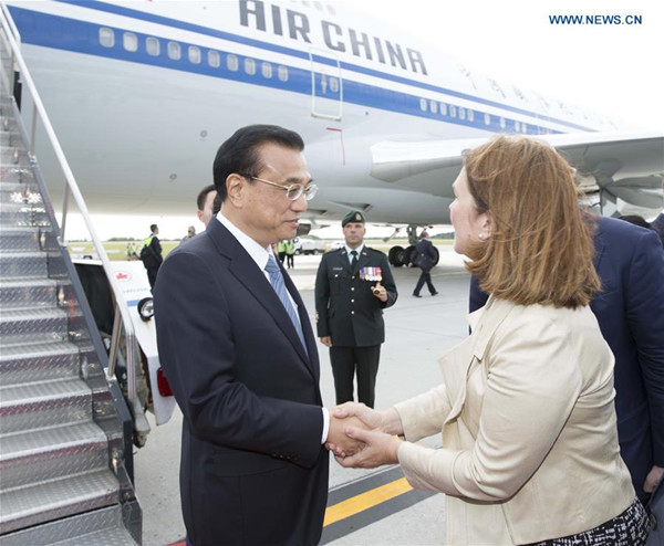 Chinese Premier arrives in Ottawa for official visit