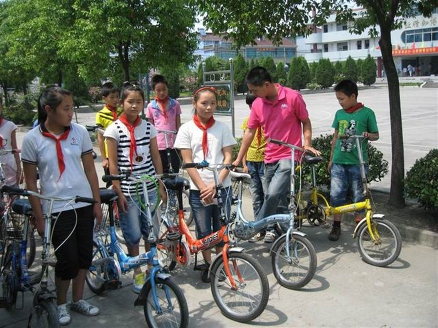 Students are encouraged to get on their bikes