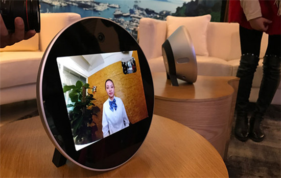 Smart telephone QLove H1 are on display during the product's launch event held in November in Beijing. (Liu Zheng/chinadaily.com.cn)