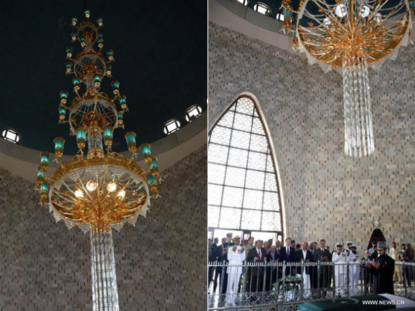 Chandelier representing china pakistan friendship installed at chandelier representing china pakistan friendship installed at mazar e quaid aloadofball Choice Image